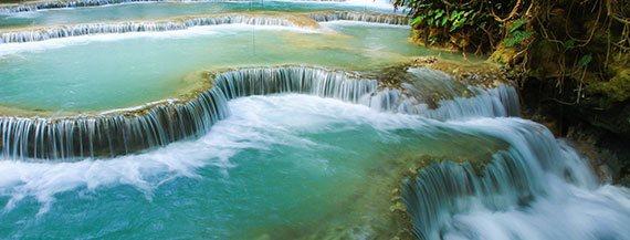 cataratas de kuangsi en luang prabang