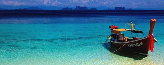 islas de krabi en barca