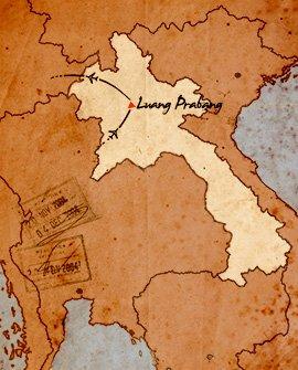 mapa de viaje por luang prabang