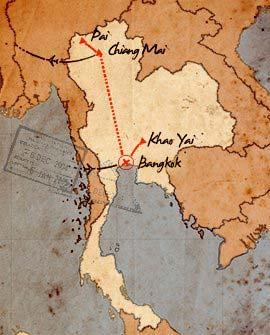 mapa de viaje por tailandia en 10 dias