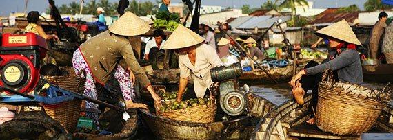 mercados del delta del mekong