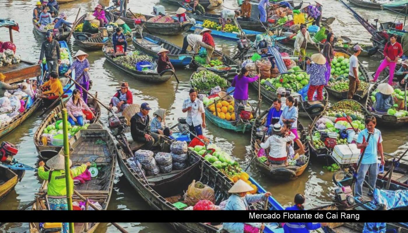 canoas en cai rang mekong
