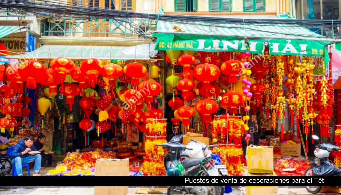tienda de decoración ano nuevo vietnam