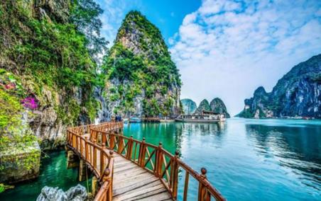 increible paisaje en bahia de halong