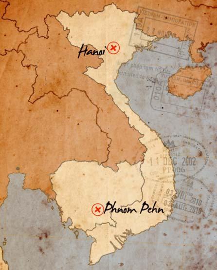 itinierario de viaje hanoi phnom pehn