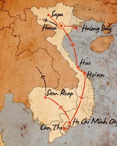 itinerario de viaje