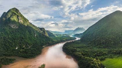 los paisajes de la ruta en akha