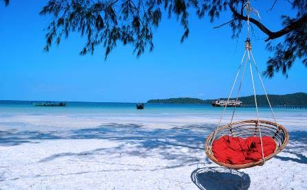 visita de la playa en camboya