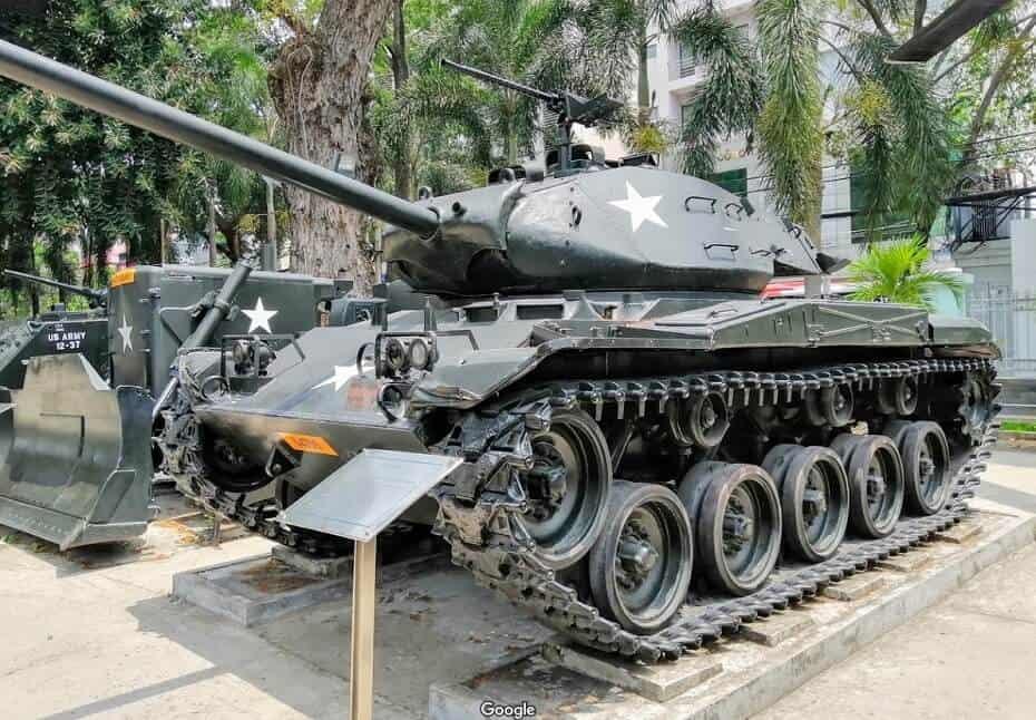 tanque en el museo de la guerra de ho chi minh