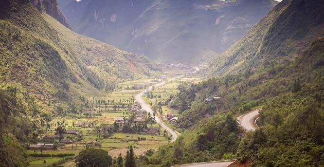 paisaje increible en ha giang